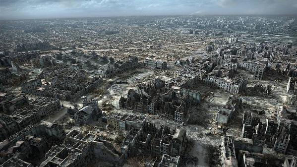 Digital reconstruction of Warsaw following the 1944 uprising, 85% was destroyed