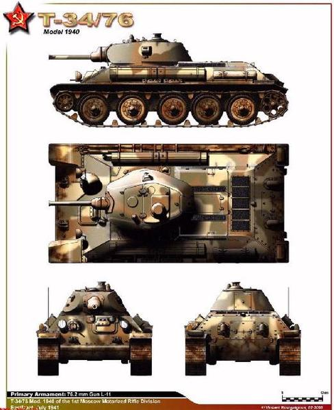 T-34 model 40 3-tone