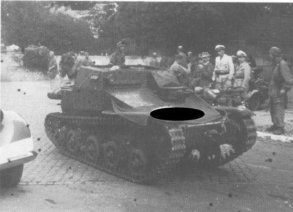 CV33 with torsion bar suspension originally built for export to Brazil in the hands of German paratroops in Italy