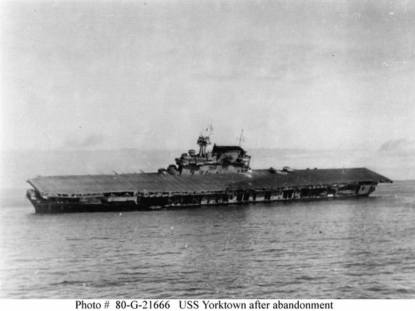 Yorktown after abandonment