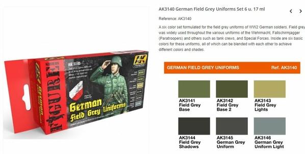 Set AK Field Gray
