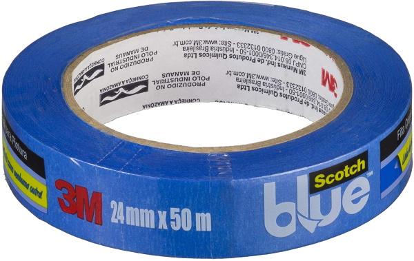 Fita Crepe Profissional 3M ScotchBlue - 24 mm x 50 m